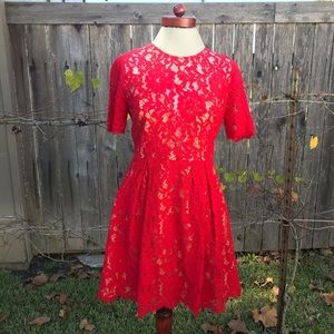 Red Lush Lace Cocktail Dress